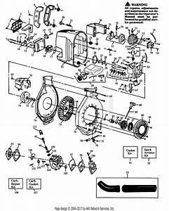 Poulan Pp422 Gas Blower  422 Gas Blower Parts Diagram For Bower Assembly