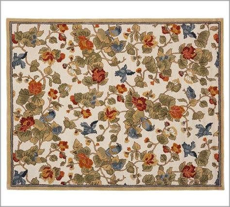 Pottery Barn Bird Floral Rug - copycatchic