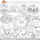 Breakfast Coloring Pages Printable Getdrawings Getcolorings Stamp sketch template