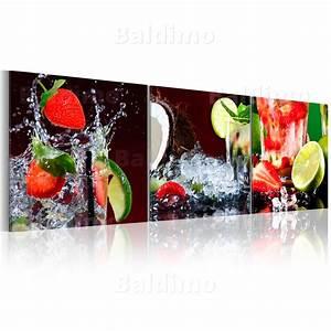 Küche Bilder Deko : neuheit glasbilder bild deko glass glasbild limone k che erdbeere 030207 26 ebay ~ Whattoseeinmadrid.com Haus und Dekorationen