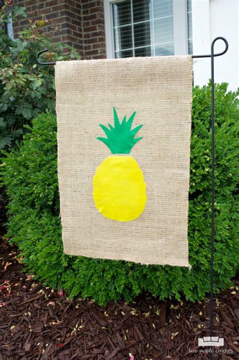 no sew pineapple garden flag silhouette creators two