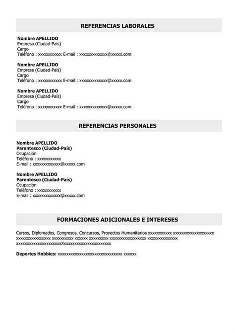Lebenslauf Einfach by Curriculum Vitae Simple Para Completar E Imprimir Modelo Cv