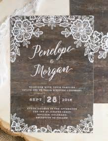 rustic lace wedding invitations 25 best ideas about rustic wedding invitations on