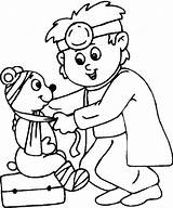 Doctor Coloring Pages Preschool Hospital Colouring Theme Child Cards Community sketch template
