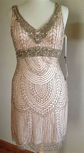 Sue wong blush pink art deco beaded embellished bridal for Beaded art deco wedding dress