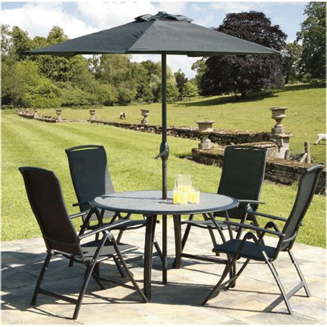 gardens and homes direct spraystone black 4 seat 1