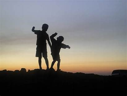 Brothers Silhouette Randy Heather
