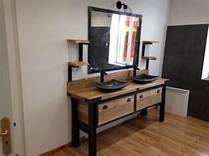 kota bain collection avec meuble salle de bain style With meuble industriel salle de bain