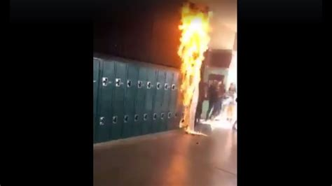 Student Sets Paper Sign On Fire At Coronado High School In