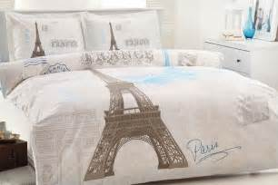100 cotton 4 pcs eiffel tower bedding duvet cover