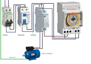 esquemas el 233 ctricos motor monofasico contactor y reloj horario esquemas el 233 ctricos