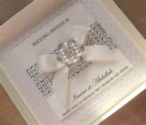 luxury wedding invitations luxury wedding invitations pearls diamante bling with without box