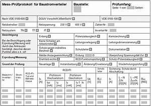 E Check Prüfprotokoll : notwendige pr fungen an baustromverteilern ~ Lizthompson.info Haus und Dekorationen