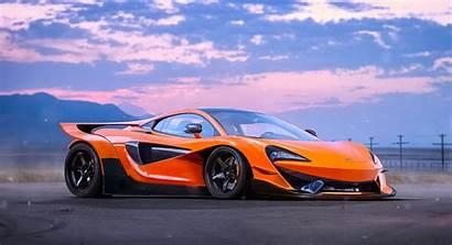 Mclaren 570s Orange Supercar Wallpapers Background