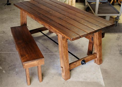 Hand Made Farmhouse Table By Sb Designs  Custommadecom