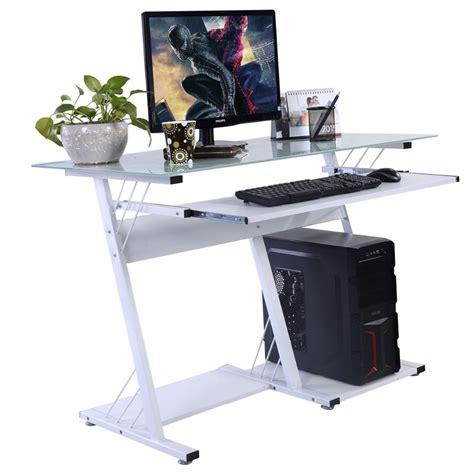 mouse for glass desk modern computer desk table office furniture keyboard shelf