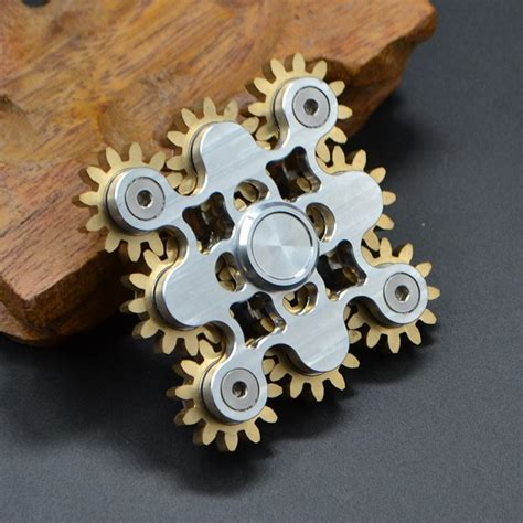 Hand Spinner Nine Gear Teeth Fidget Spinner Linkage Metal ...
