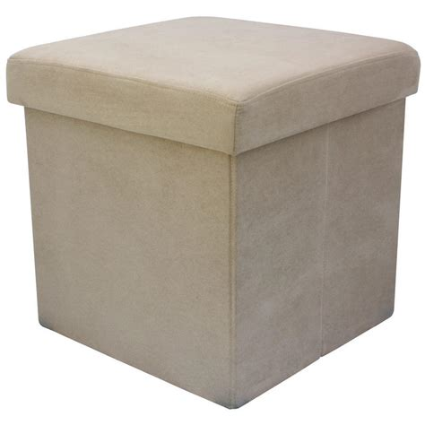 faux fur storage ottoman faux suede folding storage pouffe stool seat ottoman box