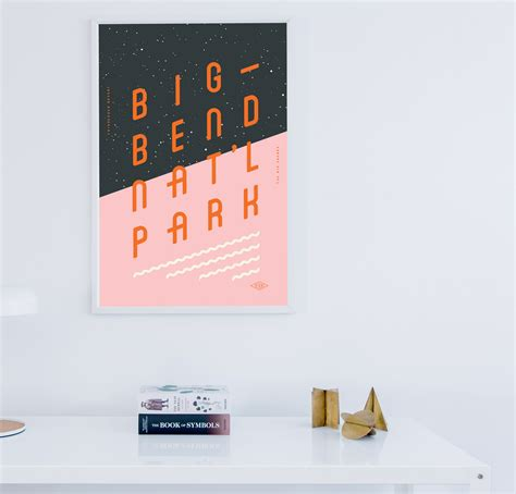 creative big bend national park poster examples venngage