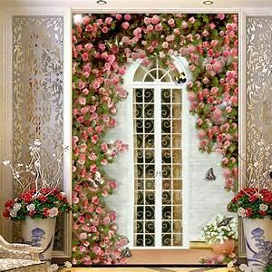 Custom 3D Wall Murals Wallpaper European Style Garden Rose ...