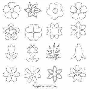 Flower Silhouette Vector And Outline Templates