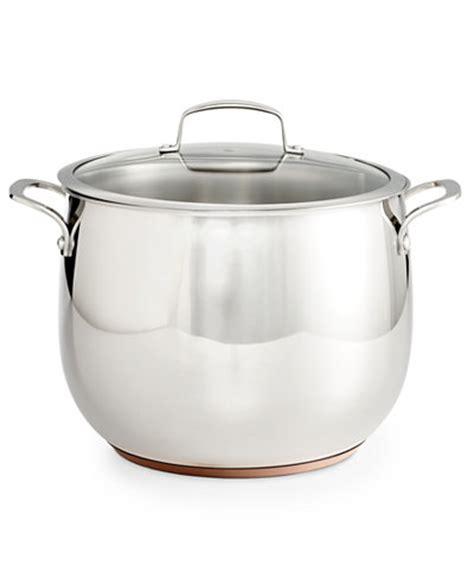 belgique copper bottom  qt stockpot  lid created  macys cookware cookware sets