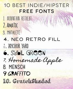 10 Best Hipster/Indie Free Fonts #freefonts # ...