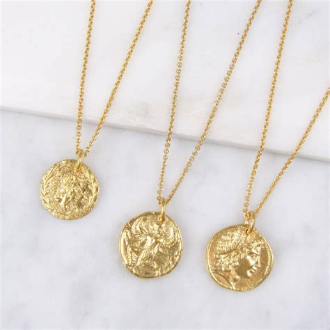 coins necklace coin necklace by black pearl notonthehighstreet