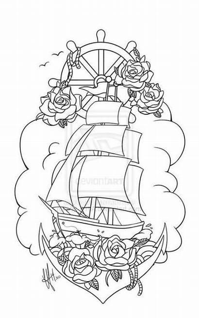 Tattoo Ship Pirate Tattoos S0n Deviantart Flash