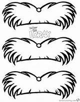 Lorax Mustache Seuss Coloring Dr Pages Printable sketch template
