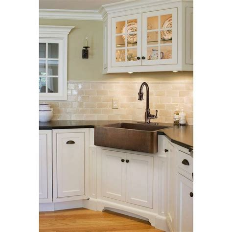 kitchen corner sinks uk sinkology farmhouse apron front handmade solid 6620