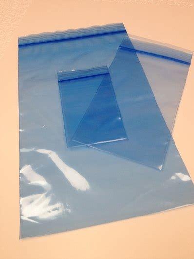 tinted light blue ziplock reclosable     mil bag royalbagcom