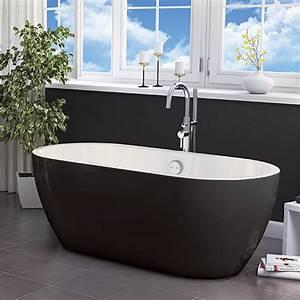 Buy Synergy San Marlo Black 1655MM Freestanding Bath Black