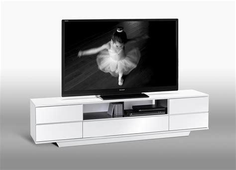 meuble tv dangle blanc laque pas cher id 233 es de