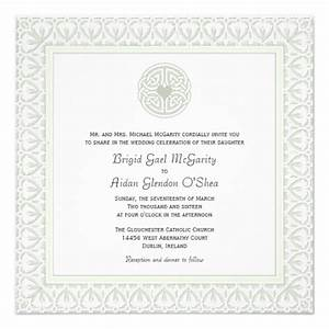 traditional irish wedding invitations celtic knot 525 With traditional scottish wedding invitations
