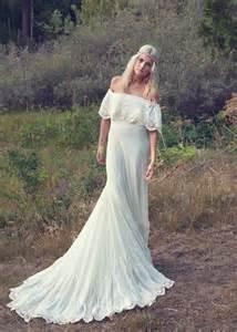 boho wedding dress shop bohemian wedding dress 1970s hippie from daughtersofsimone on