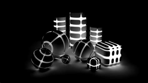 Black And White Animated Wallpapers - black white 3d object animation hd wallpaper 2 2084