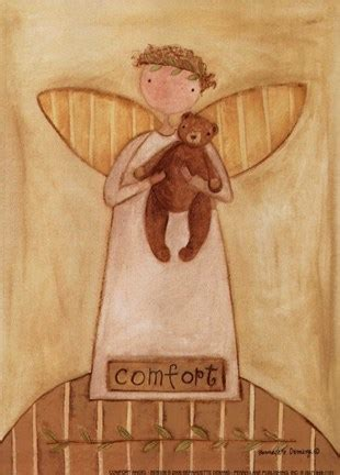 comfort angel fine art print  bernadette deming