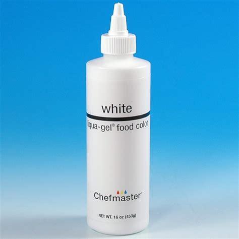 white food coloring chefmaster liqua gel color white