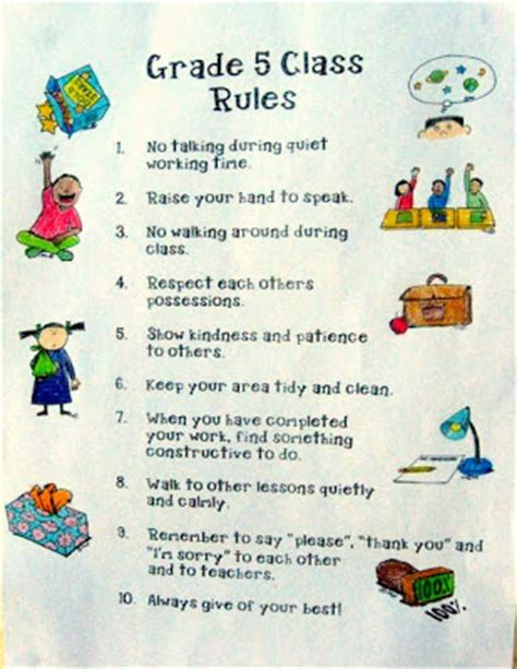classroom rules template 4 best images of classroom rules printable template