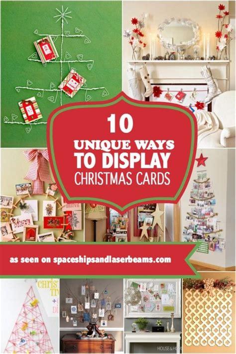 unique ways  display christmas cards spaceships