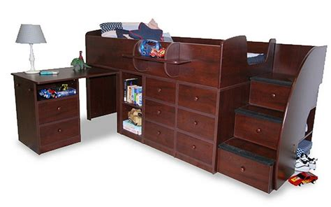 captains bed  desk woodworking projects plans