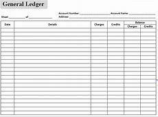 Excel Accounting Templates General Ledger Spreadsheet