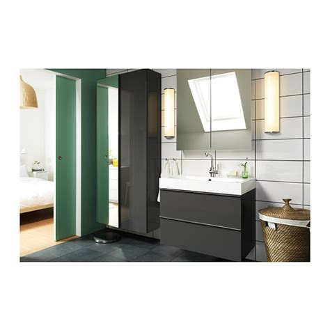 godmorgon br 197 viken sink cabinet with 2 drawers gray