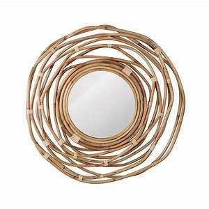Miroir En Rotin : miroir en rotin kubu 75 cm de la marque dutchbone ~ Nature-et-papiers.com Idées de Décoration