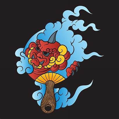 Illustration Japanese Tattoo Vector Letters Asian Samurai