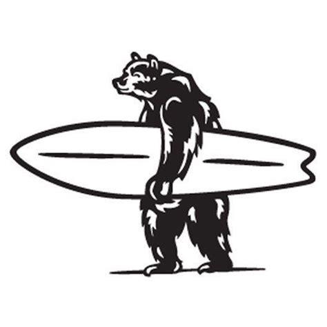 brutus die cut logo sticker   surf oso de
