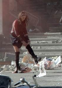 ELIZABETH OLSEN on the Set of Avengers 2: Age of Ultron in ...