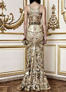gold gilded wedding dress alexander mcqueen onewedcom With black and gold wedding gown