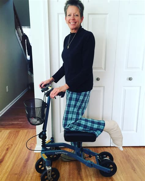 walker knee putting exciting scooting washing laundry along taken machine after jersey cynthia